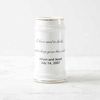 Hochzeitsbier Stein-Gastgeschenk Hochzeit oder Bierglas