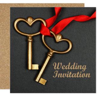 Hochzeitseinladung der eleganten Art Karte