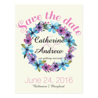 Hochzeitseinladung Save the Date Postkarte