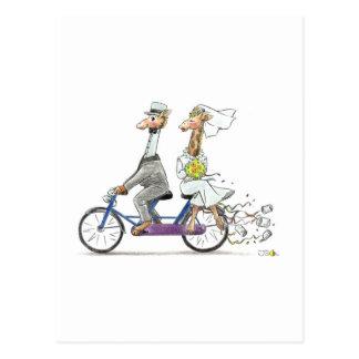 Hochzeitsgiraffen Postkarte