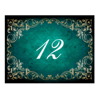 Hochzeitstabellen-Sitzplatzkarte des rustikalen Postkarte