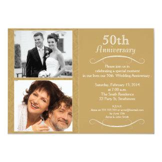 Hochzeitstag 5oth Einladung