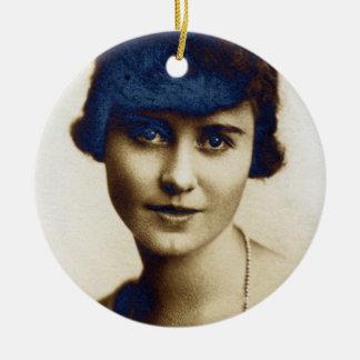 Hochzeitstag Alices Marion McPherrin 1917 Rundes Keramik Ornament