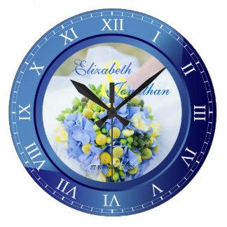 Hochzeitstag-blauer Saphir-römische Ziffern Uhr