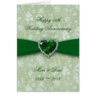 Hochzeitstag des Damast-55. Karte