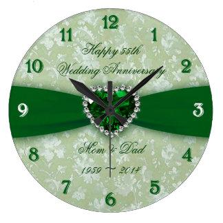 Hochzeitstag des Damast-55. Uhren