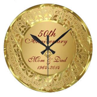 Hochzeitstag des Funkelngold50. Wanduhren