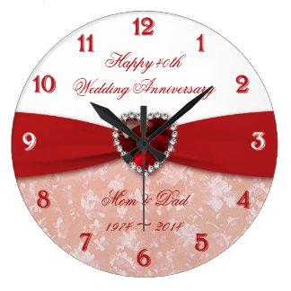 Hochzeitstag-Entwurf des Damast-40. Uhren