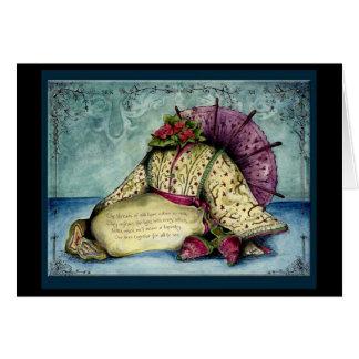 Hochzeitstag-Geschenkkarte Jahr der Seide 12