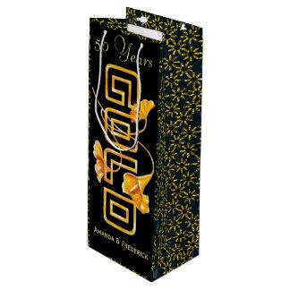 Hochzeitstag-Gewohnheit der goldener Geschenktüte Für Weinflaschen