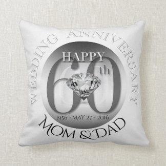 Hochzeitstag-Kissen des Diamant-60. Kissen