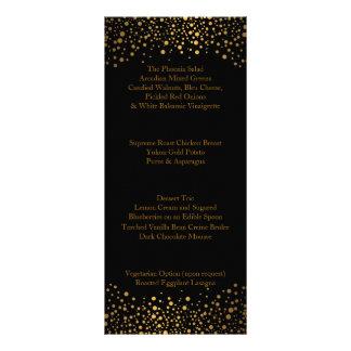 Hochzeitstag-modische Goldpunkte Werbekarte