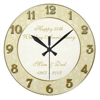Hochzeitstag-Uhr des Damast-50. Uhren