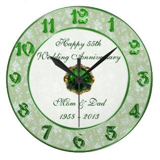 Hochzeitstag-Uhr des Damast-55. Uhr