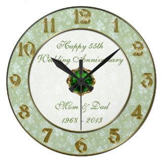Hochzeitstag-Uhr des Damast-55. Uhren