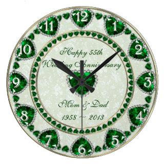 Hochzeitstag-Wanduhr des Damast-55. Uhren