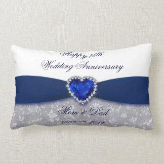 Hochzeitstag-Wurfs-Kissen des Damast-45. Kissen