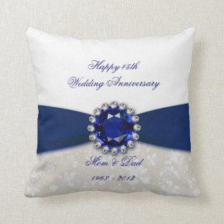 Hochzeitstag-Wurfs-Kissen des Damast-45. Zierkissen