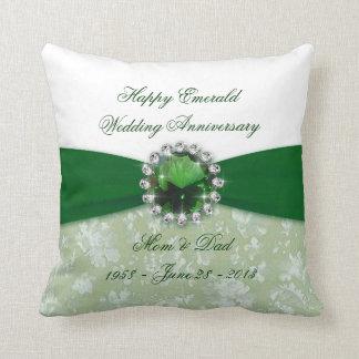 Hochzeitstag-Wurfs-Kissen des Damast-55. Zierkissen