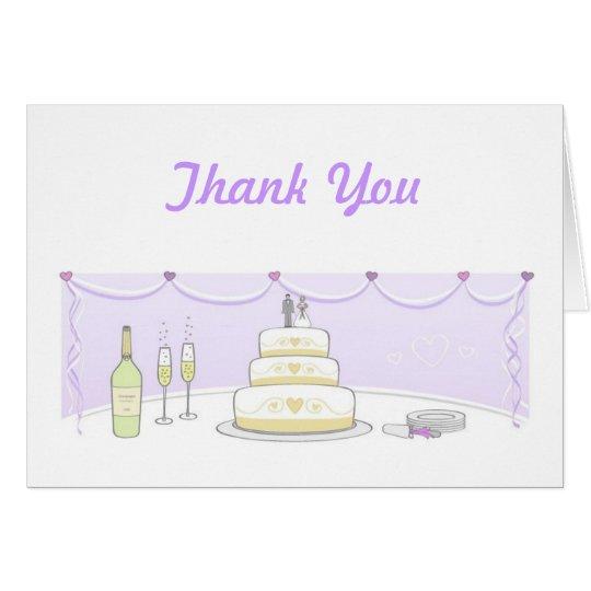 Hochzeitstorte danken Ihnen Karten