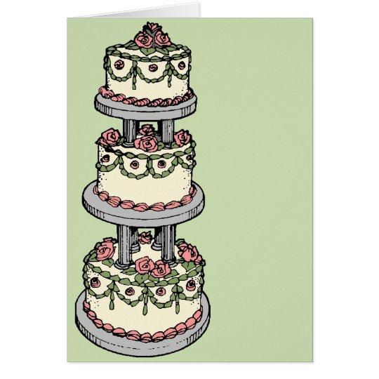 Hochzeitstorte - kundengerechte Farbe! Grußkarte