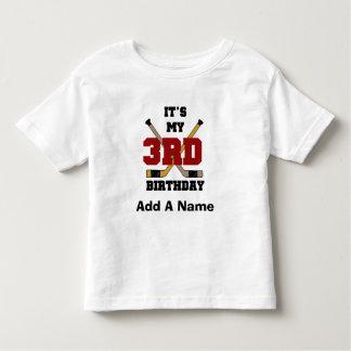 Hockey-3. Geburtstags-T-Shirts und Geschenke Kleinkind T-shirt