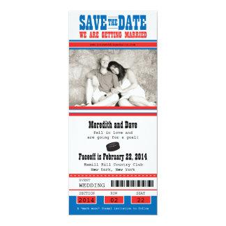 Hockey-Karte, die Save the Date Wedding ist 10,2 X 23,5 Cm Einladungskarte