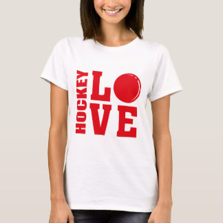 Hockey-Liebe, Feld-Hockey-T - Shirt