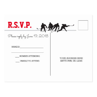 Hockey-Liebe-Postkarte UAWG Postkarte