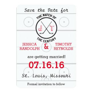 Hockey-Liebe Save the Date Karte