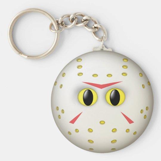 Hockey-Masken-Smiley Standard Runder Schlüsselanhänger