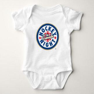Hockey-Nacht in Kanada-Logo Baby Strampler