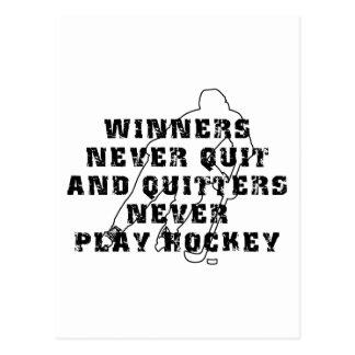Hockey-Sieger nie verlassen Postkarte