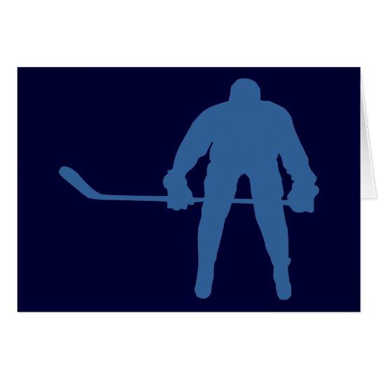 Hockey-Silhouette-Mitteilungskarten Karte