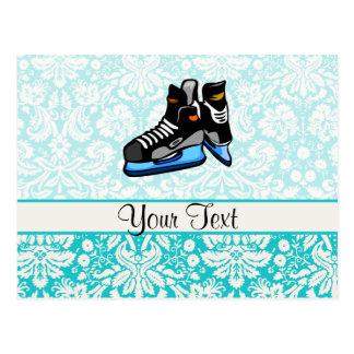 Hockey-Skate; Damast Postkarte