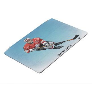 Hockey-Spieler-Entwurf iPad Abdeckung iPad Pro Hülle