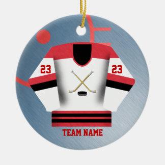 Hockey-Spieler-Jersey-Verzierung Keramik Ornament