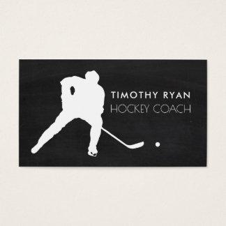 Hockey-Spieler, Tafel-Hintergrund, Hockey Visitenkarte