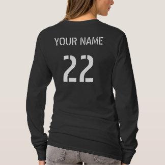 Hockey-Spieler-Typografie-T-Stück mit Namen u. T-Shirt