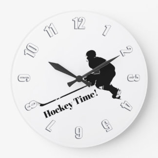 Hockey-Spieler - Winter-Sport Große Wanduhr
