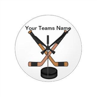 Hockey-Uhr Runde Wanduhr
