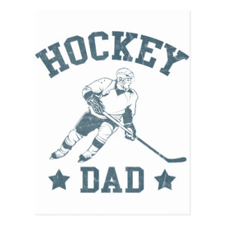 Hockey-Vati-Karten u. Aufkleber Postkarte
