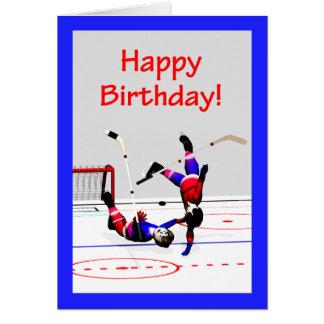 Hockeyspiel-Geburtstag Karte