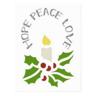 Hoffnung, Frieden, Liebe-unbedeutende Stechpalme Postkarte