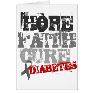 Hoffnung. Glaube. Heilung. Diabetes Grußkarte