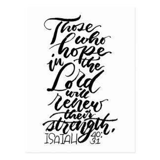 Hoffnung im Lord Brush Script Postkarte
