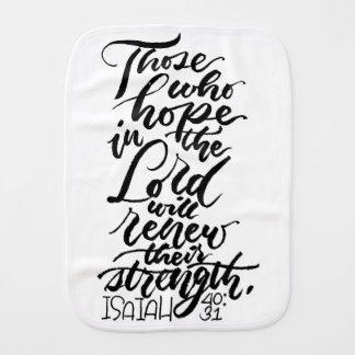 Hoffnung im Lord Brush Script Spucktuch