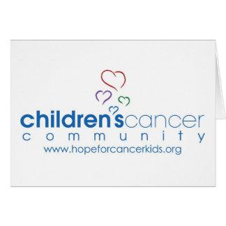 Hoffnung ist stärker als Krebs Notecard Karte