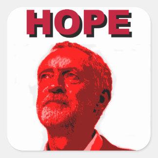 Hoffnung Jeremy Corbyn Quadratischer Aufkleber