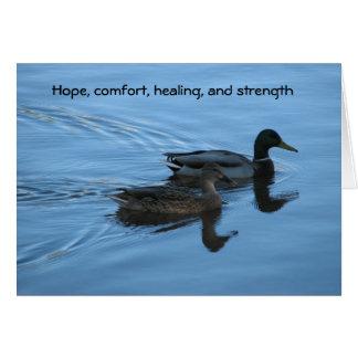 Hoffnung, Komfort, Heilen und Stärke Grußkarte